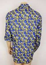 Mens Vtg 70s Style Retro Prince Crazy Shirt Psychedelic Abstract Festival XL