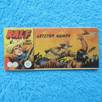 """RALF Nr 105 Der Scout  """"LETZTER KAMPF"""" Piccolo Lehning 1961 Z1 Z2"""