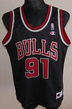 CHAMPION NBA Trikot CHICAGO BULLS #91 RODMAN Shirt Jersey Basketball adult L USA