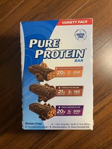 Pure Protein Bars, Healthy Snacks Support Energy, Variety Pack, 1.76 oz, 18 pack