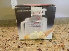 Donvier Premier Ice Cream Maker Red, 1 Quart in Original Box w/ Recipes EUC