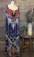 Glamour Dress Size 20 W Vacation Print Long Maxi Stretch Sleeveless Boho