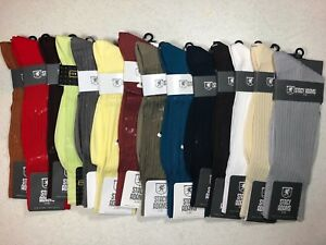 ONE PAIR NEW WITH TAG STACY ADAMS SLIKY RIBBED MEN'S CREW  SHORT SOCKS