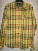 TIMBERLAND COTTON YELLOW CHECKED SHIRT SLIM FIT SIZE M (38-40)