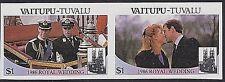 TUVALU-VAITUPU 1986 MNH - IMPERF - DUKE DUCHESS OF YORK WEDDING - ANDREW, SARAH