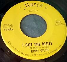 "EDDY GILES I Got The Blues/Losin' Boy 7"" 45 MURCO 1031 Southern Soul SHREVEPORT"