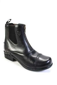 Ariat Womens Leather Heritage Round Toe Zip Paddock Boots Black Size 11