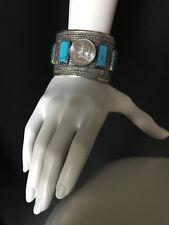 Vintage TURKMEN Gypsy Tribal Women's CUFF Bracelet Large Belly Dance Uber Kuchi®