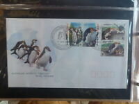 AUSTRALIA 2007 AAT PENGUINS WWF SET 4 STAMPS MACQUARIE Is FDC FIRST DAY COVER