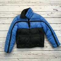 Vtg 90s Mountain Goat  Blue COLORBLOCK Snow Coat PUFFER SKI Vest Men M