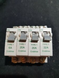 CRABTREE TYPE 1 6A 20A 32A