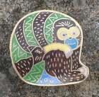 Monkey/Sloth Enameled Cloisonne Trinket Box, Salt Cellar, Open Salt, Bowl!