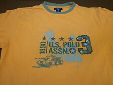 """US POLO ASSOCIATION (USPA)""  T Shirt Army Tank Camo Graphic  Medium  S2"