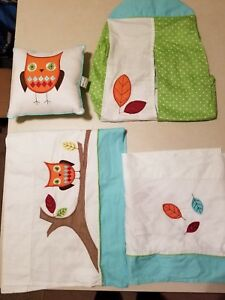 """Sweet Jojo Designs Turquoise and Lime Hooty Owl Accent 10"""" PILLOW WINDOW TOPPERS"""