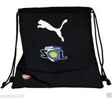 PUMA Sackpack Pro Soccer Fan Los Angeles Sol Gymsack Sport Dark Navy Blue Bag