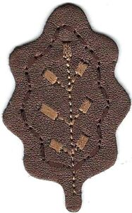 """2 1/4"""" Brown Leaf embroidery Fall Autumn Leaves"""