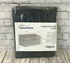 More details for selections waterproof companion seat love bench garden furniture cover (1.58m)