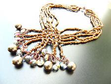 Perlen Modeschmuckstücke aus Messing für Damen