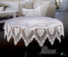 "Round LaceTablecloths White Wedding Table NEW Ø 59"" Table Covers Tea cloth"