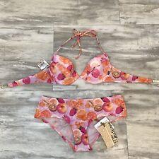 NWT John Galliano Beach Wear Fruit Push Up Bikini Women's Size Small