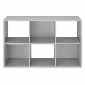 Relaxed Living 6-Cube Organizer in Grey
