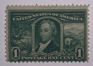 TRAVELSTAMPS: 1904 US Stamps Scott #323, Robert Livingston, mnh, og, mint, 1cent