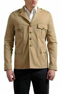 Saint Laurent Men's Beige Four Button Sport Coat Blazer US 38 IT 48
