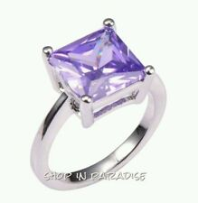Amethyst White Gold Filled Fashion Rings