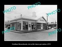 OLD 8x6 HISTORIC PHOTO OF NEEDHAM MASSACHUSETTS THE AMOCO GAS STATION c1970