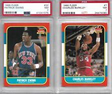 1986 Fleer Basketball Rookie Card Rc #32 Patrick Ewing Graded PSA 7 NM