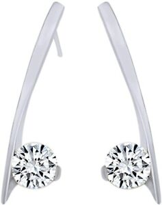 Simulated Birthstone Dangle Earrings In For Women's In 10K White Gold