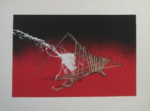 Emilio Scanavino- senza titolo -serigrafia  70x50 cm tiratura 120 esemplari