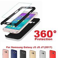 Luxury 360 Full Cover Slim Hard Shockproof Case For Samsung Galaxy J3 J5 J7 2017
