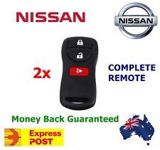 2x NISSAN 3 Button Remote Brand New Xtrail Pathfinder Murano Tiida 350Z