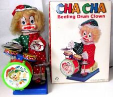 AUTOMATE A BATTERIE-CHA CHA BEATING DRUM CLOWN-MM+BOITE-FONCTIONNE-VIDEO-TAIWAN