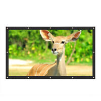 New White 16:9 Projection Screen Curtains Film for Home Theater Outdoor HD WE