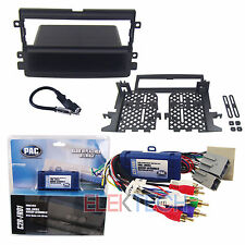 Radio Replacement Interface & Dash Mounting Kit 1-DIN w/Pocket for Ford/Lincoln