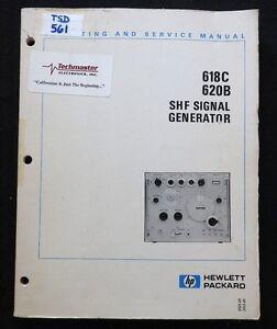 HEWLETT PACKARD HP 618C 620B SHF SIGNAL GENERATOR OPERATING & SERVICE MANUAL