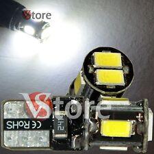 2 LED T10 Lampade 6 SMD 5630 Canbus Bianco No Errore Luci Posizione Xenon Targa