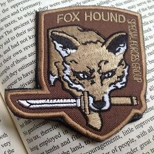 New Metal Gear Solid Fox hound Usa Tactical Army Morale Hook Patch Brown