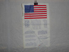 flag411 Koran war era US Military Blood Chit  R2B