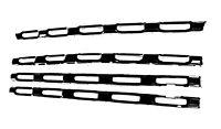 2020-2021 Chevy Silverado 2500 HD BLACK grille insert grill overlay LT WT Cust