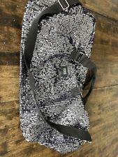VICTORIA SECRET PINK Large Flip Sequins Weekender Duffel Travel Bag