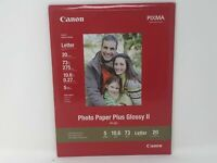 Canon Pixma Photo Paper Plus Glossy II 8.5x11 20 Sheets PP-201 Inkjet