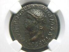 AE As of Roman Emperor Nero, 54-68 AD, Victory reverse NGC VF 5011