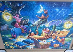 Disney Winnie The Pooh 'Stargazing' 1000 Piece Jigsaw Puzzle - One Piece Missing