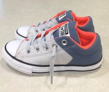 CONVERSE CTAS High Street Junior Mouse/Blue Coast Sneakers~~Size 1