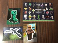 Minecraft collectible sticker cards Lot