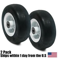2PK Flat Free Tire Assembly for Walker 8x3.00-4 8715-3, 5715-3, 5715-4, 4218