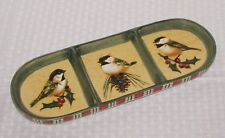"Lenox Winter Greetings Everyday 13 1/4"" Chickadee 3-Part Relish Dish - EXCELLENT"